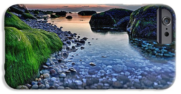 Sunset iPhone Cases - Moss and Water iPhone Case by Rick Berk