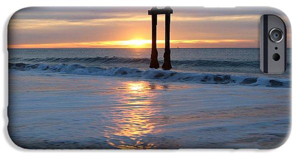 Ocean Sunset iPhone Cases - Moss Landing Sunset iPhone Case by Larry  Daeumler