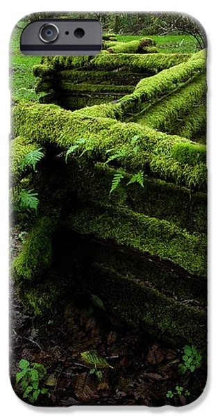 Mossy Fence 5 iPhone Case by Bob Christopher