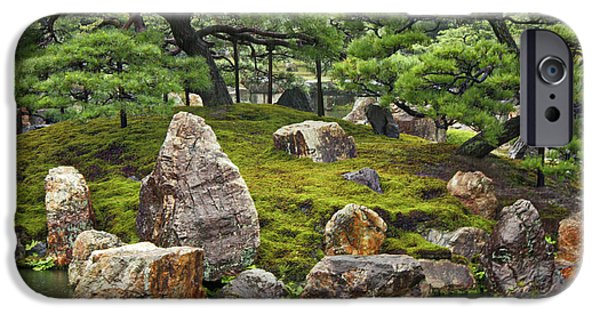 Best Sellers -  - Rainy Day iPhone Cases - Mossy Japanese Garden iPhone Case by Carol Groenen