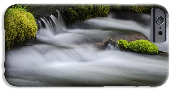 Creek iPhone Cases - Mossy Rocks  Oregon 1 iPhone Case by Bob Christopher