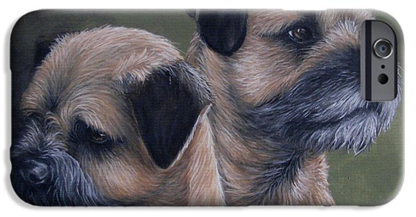 Breeder iPhone Cases - Mother and son iPhone Case by Daniele Trottier