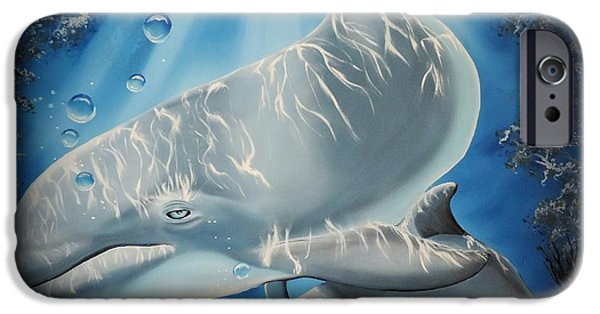 Marine iPhone Cases - Mother and Son iPhone Case by Dianna Lewis