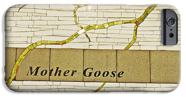 Mother Goose iPhone Cases - Mother Goose at the Root of Culture iPhone Case by Sarah Loft