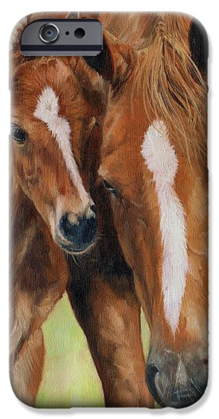 Best Sellers -  - Horse iPhone Cases - Mother Love iPhone Case by David Stribbling