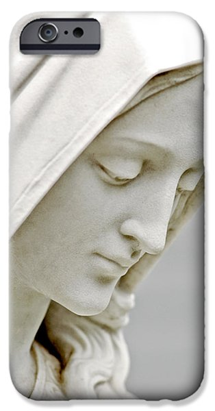 Mother Mary Comes to Me... iPhone Case by Greg Fortier