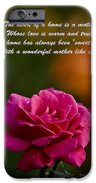 Michael Cummings Mixed Media iPhone Cases - Mothers Day Card 2 iPhone Case by Michael Cummings