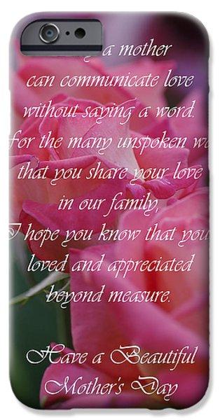 Michael Cummings Mixed Media iPhone Cases - Mothers Day Card 6 iPhone Case by Michael Cummings