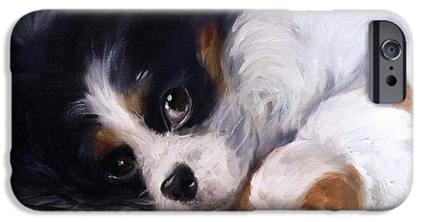 Puppies iPhone Cases - Mothers Day iPhone Case by Mary Sparrow