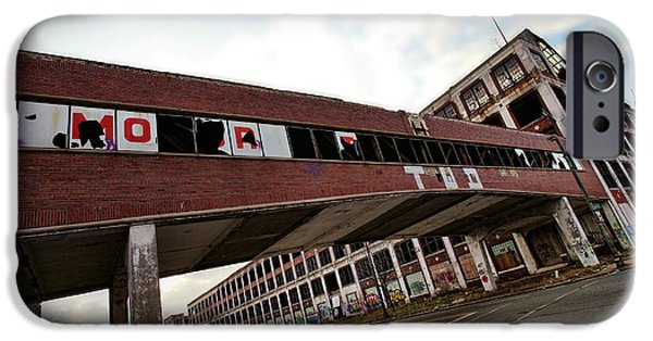 Hawk Art Print iPhone Cases - Motor City Industrial Park The Detroit Packard Plant iPhone Case by Gordon Dean II
