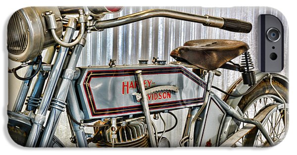 Paul Ward iPhone Cases - Motorcycle - 1913 Harley Davidson 9A iPhone Case by Paul Ward