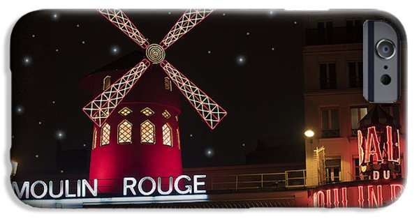 Recently Sold -  - Buildings iPhone Cases - Moulin Rouge iPhone Case by Juli Scalzi