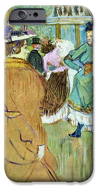 Prostitution Paintings iPhone Cases - Moulin Rouge iPhone Case by Toulouse Lautrec