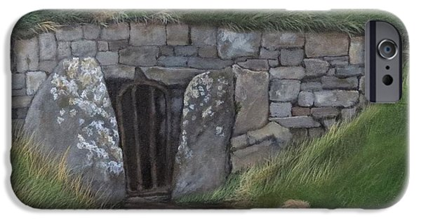 Mounds iPhone Cases - Mound Of The Hostages  Hill of Tara  Ireland iPhone Case by Janice Guinan