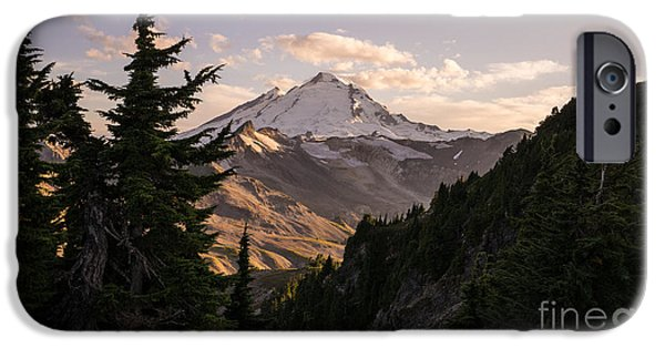 North Cascades iPhone Cases - Mount Baker Beautiful Landscape iPhone Case by Mike Reid