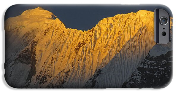 Circuit iPhone Cases - Mount Gangapurna  iPhone Case by Samanvitha Rao