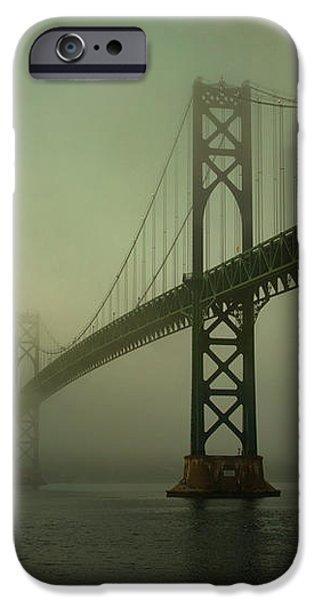Mount Hope Bridge iPhone Case by Dave Gordon