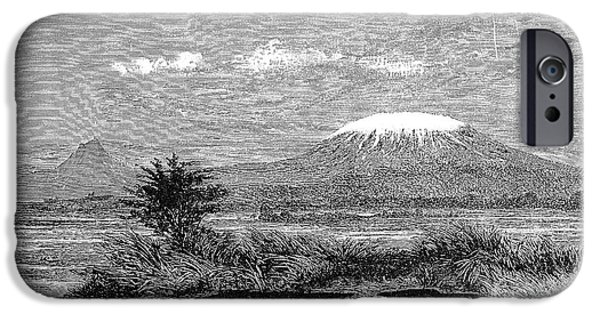 1884 iPhone Cases - Mount Kilimanjaro, 1884 iPhone Case by Granger