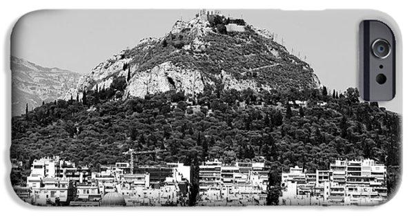 Greek School Of Art iPhone Cases - Mount Lykavittos iPhone Case by John Rizzuto