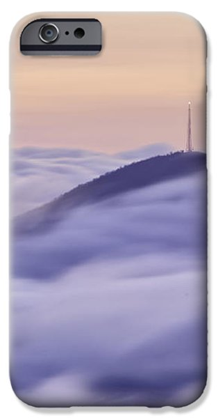 Mount Pisgah in the Clouds iPhone Case by Rob Travis