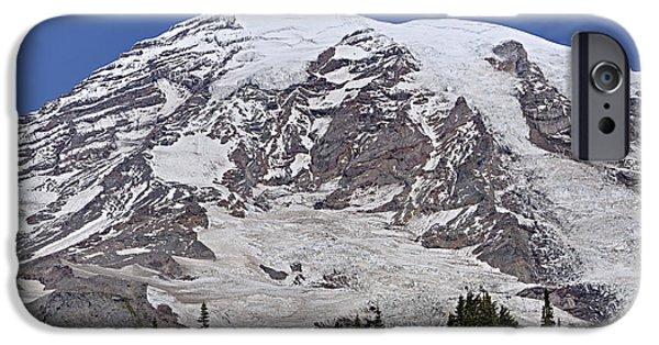 Rainy Day iPhone Cases - Mount Rainier iPhone Case by Marv Vandehey