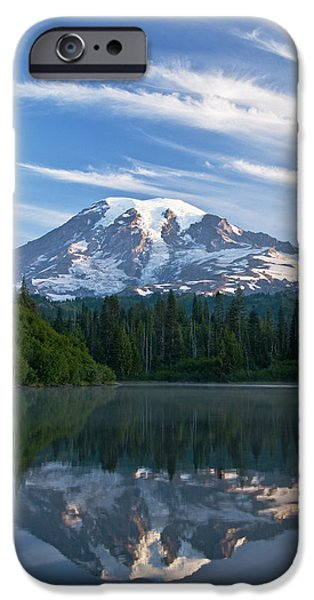 Printscapes - iPhone Cases - Mount Rainier Reflections iPhone Case by Greg Vaughn - Printscapes