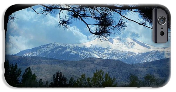 Mount Rose iPhone Cases - Mount Rose Silhouette iPhone Case by Bobbee Rickard