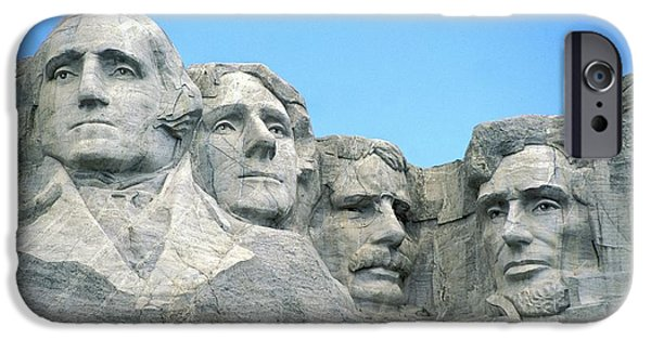 Canada Photograph iPhone Cases - Mount Rushmore iPhone Case by American School