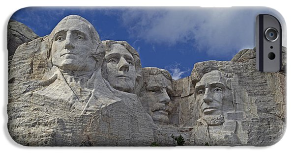 President iPhone Cases - Mount Rushmore National Memorial iPhone Case by David Hintz