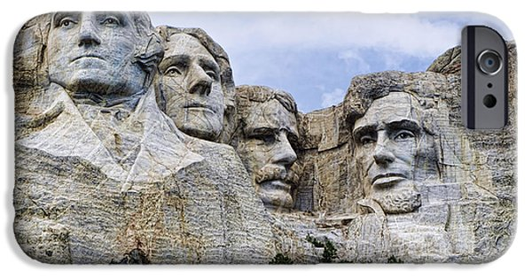 Mount Rushmore iPhone Cases - Mount Rushmore National Monument iPhone Case by Jon Berghoff