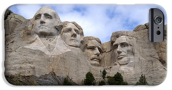 Lincoln iPhone Cases - Mount Rushmore Pano iPhone Case by Jan and Burt Williams