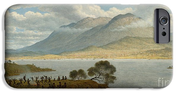 Hobart iPhone Cases - Mount Wellington and Hobart Town from Kangaroo Point iPhone Case by Celestial Images