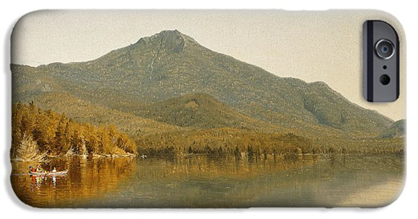 Pastimes iPhone Cases - Mount Whiteface from Lake Placid iPhone Case by Albert Bierstadt