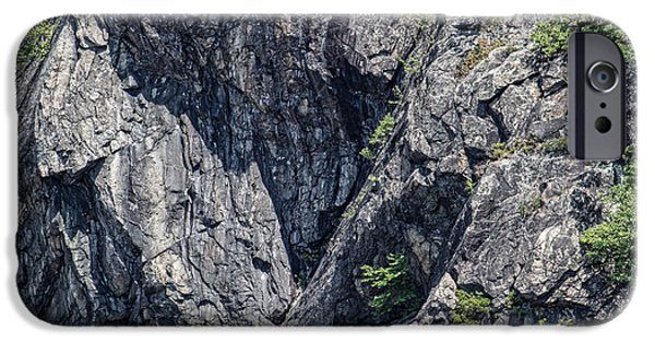 Hudson River iPhone Cases - Mountain Cliff iPhone Case by Roberta Byram