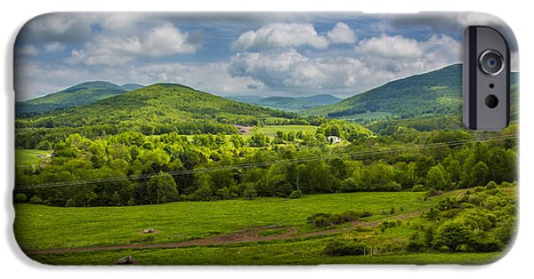 Recently Sold -  - Field. Cloud iPhone Cases - Mountain Field of Greens iPhone Case by Paula Porterfield-Izzo
