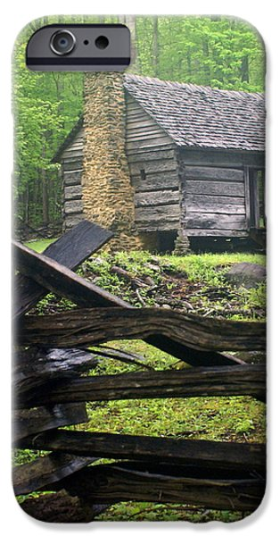 Smokey Mountains iPhone Cases - Mountain Homestead iPhone Case by Marty Koch