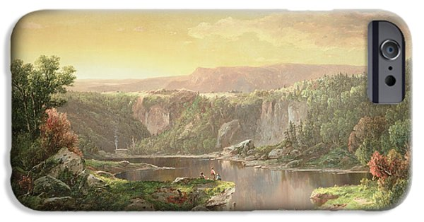 Mountain Paintings iPhone Cases - Mountain Lake near Piedmont iPhone Case by William Sonntag