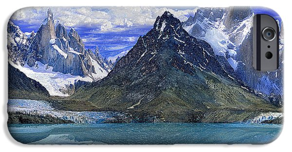 Snowy Night iPhone Cases - Mountain Lake iPhone Case by Scott Mendell