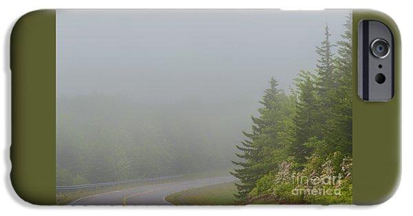 Mist iPhone Cases - Mountain Laurel Highway in Mist iPhone Case by Thomas R Fletcher