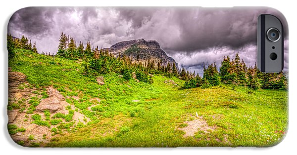 Field. Cloud iPhone Cases - Mountain Meadow iPhone Case by Spencer McDonald