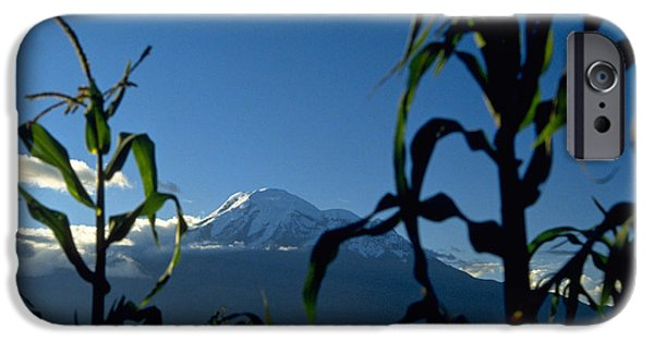 Chimborazo iPhone Cases - Mountain iPhone Case by Michael Mogensen