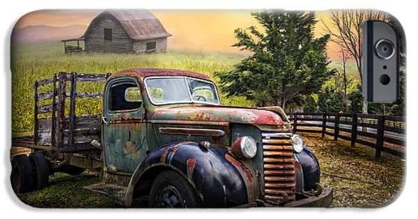 1949 Plymouth iPhone Cases - Mountain Morning iPhone Case by Debra and Dave Vanderlaan