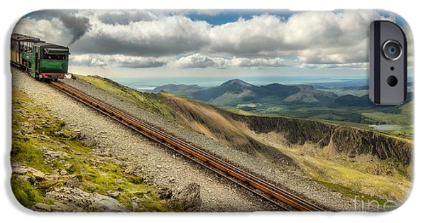 Carriage Digital iPhone Cases - Mountain Railway iPhone Case by Adrian Evans