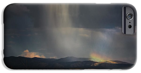 Prescott iPhone Cases - Mountain Rainbow iPhone Case by Janet Ballard