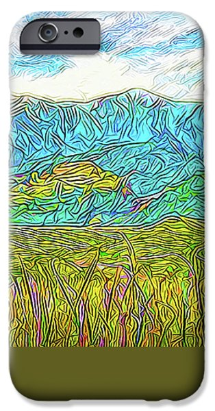 Rural iPhone Cases - Mountain Range Flowing - Boulder County Colorado iPhone Case by Joel Bruce Wallach