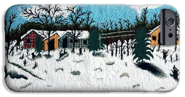 Mountain Tapestries - Textiles iPhone Cases - Mountain sawmill iPhone Case by Mimoza Xhaferi