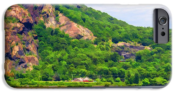 Hudson River iPhone Cases - Mountain Scene iPhone Case by Roberta Byram
