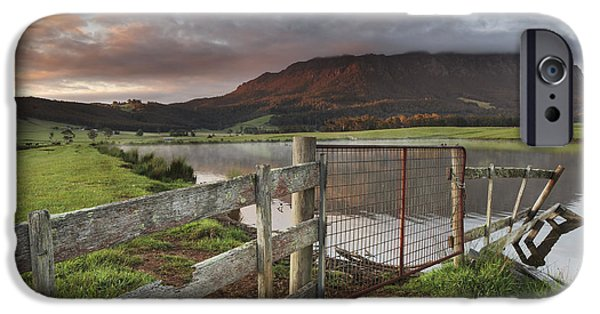 Bamboo Fence iPhone Cases - Mountain Spirits iPhone Case by Claire Walsh