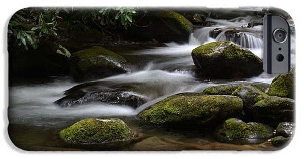 Buy iPhone Cases - Mountain Stream  iPhone Case by Kathy Liebrum Bailey
