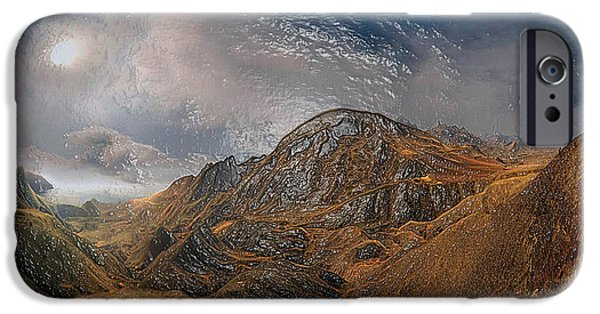 Snowy Night iPhone Cases - Mountain Way iPhone Case by Scott Mendell